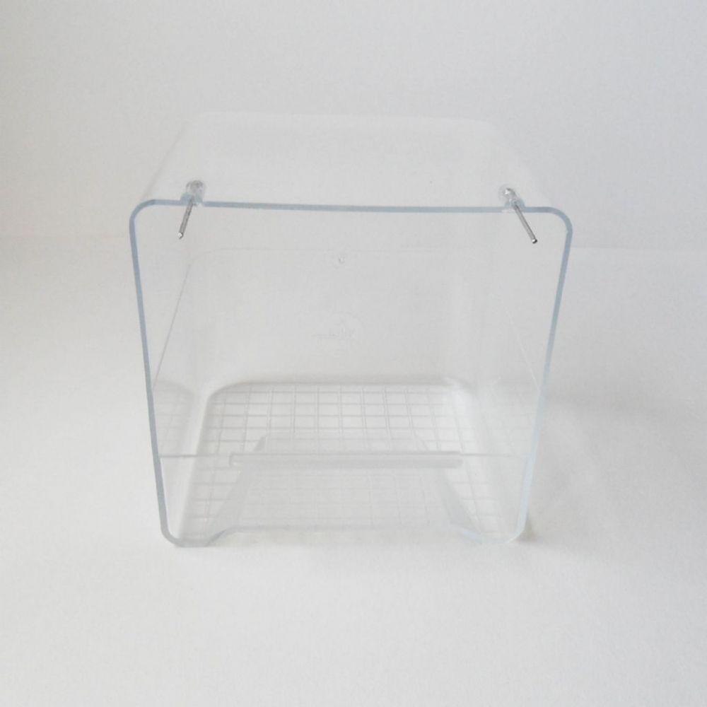 Badhuis transparant met ijzeren pinnen