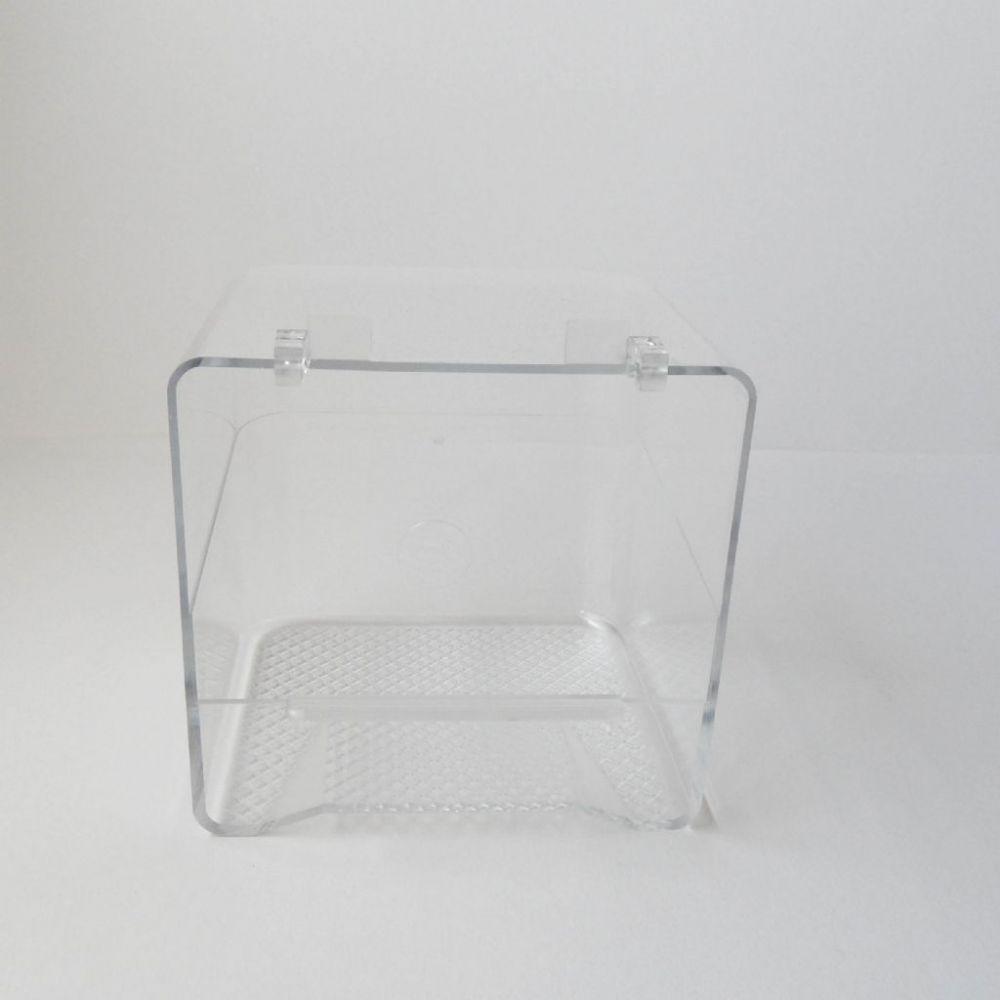 Badhuis transparant met plastic haken