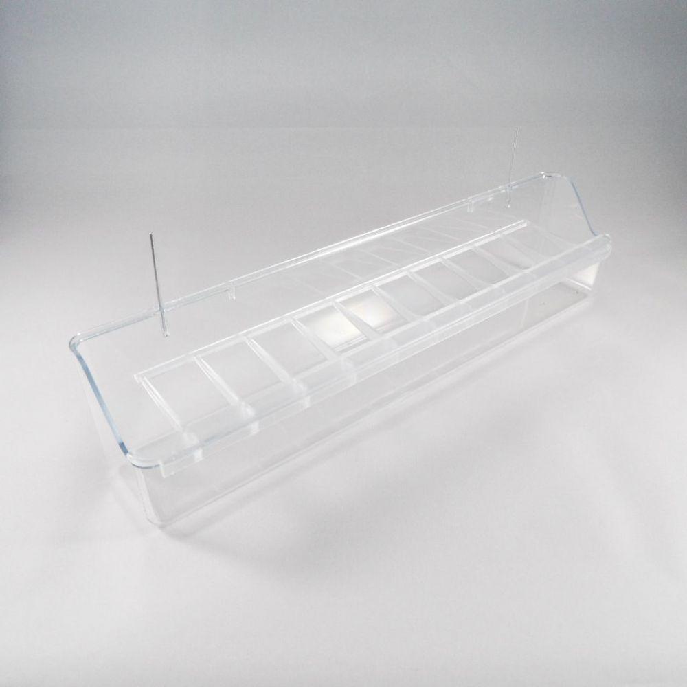 Hangbak 40 cm transparant