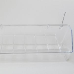 Hangbak 20 cm transparant
