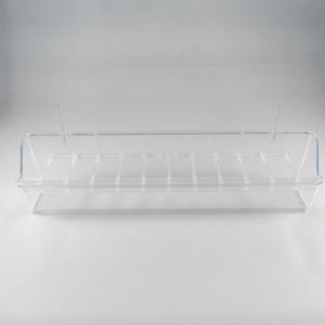 Hangbak 30 cm transparant