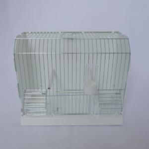 Kunststof kooi wit met zinken front